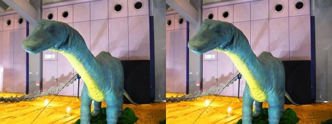 メガ恐竜展2017 ZONE4 アパトサウルス幼体生体復元ロボット(交差法)