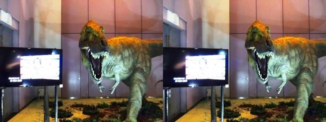 メガ恐竜展2017 ZONE1 ティラノサウルス生体復元(平行法)
