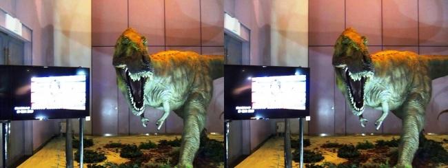 メガ恐竜展2017 ZONE1 ティラノサウルス生体復元(交差法)