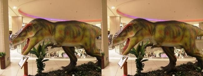 恐竜博 in あべのキューズモール ティラノサウルス②(交差法)