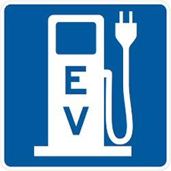 250 EV sign