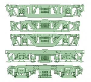 台車セット1 10両分【武蔵模型工房 Nゲージ 鉄道模型】1