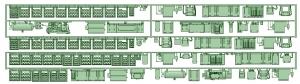 1100系1117F_1350系1353F床下機器セット【武蔵模型工房 Nゲージ 鉄道模型】