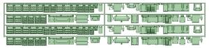 1370系床下機器(2編成セット)【武蔵模型工房 Nゲージ 鉄道模型】