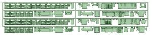 1370系_1350タイプ1床下機器【武蔵模型工房 Nゲージ 鉄道模型】