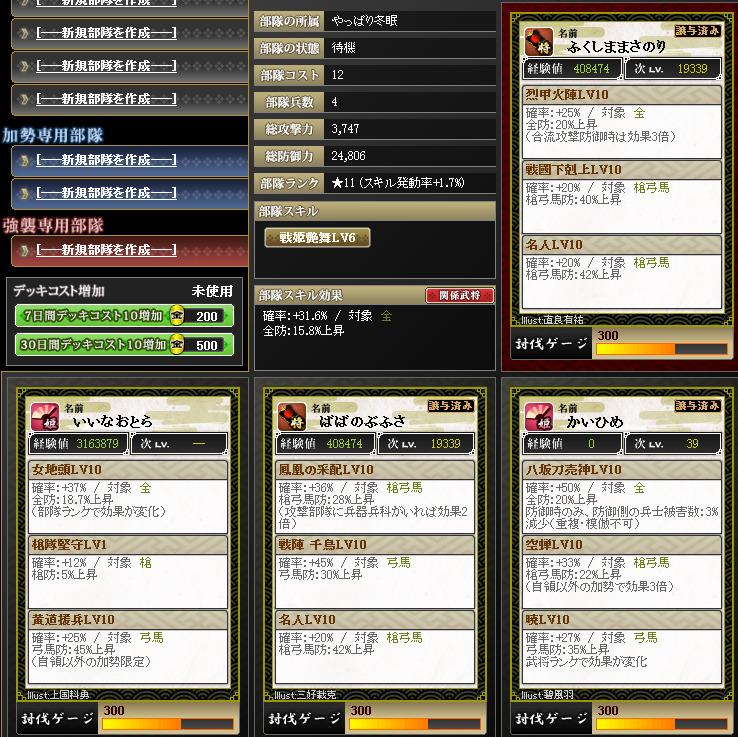 20170508122612部隊編成 - 戦国IXA