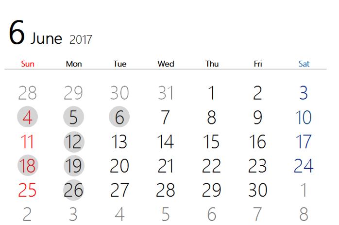 2017 6月