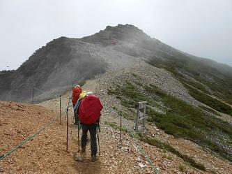 爺ガ岳南峰を望む - コピー