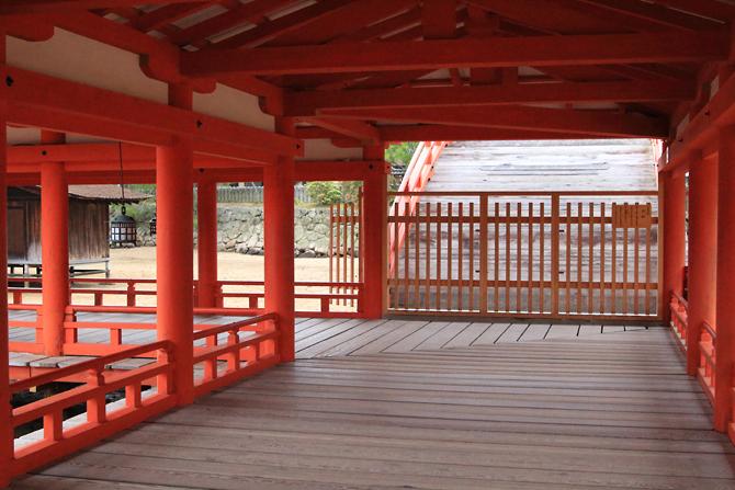 20170507厳島神社廊下