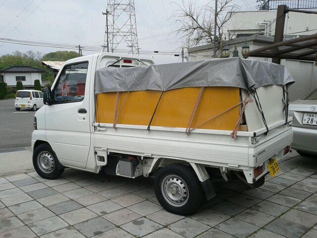 軽トラックで回収