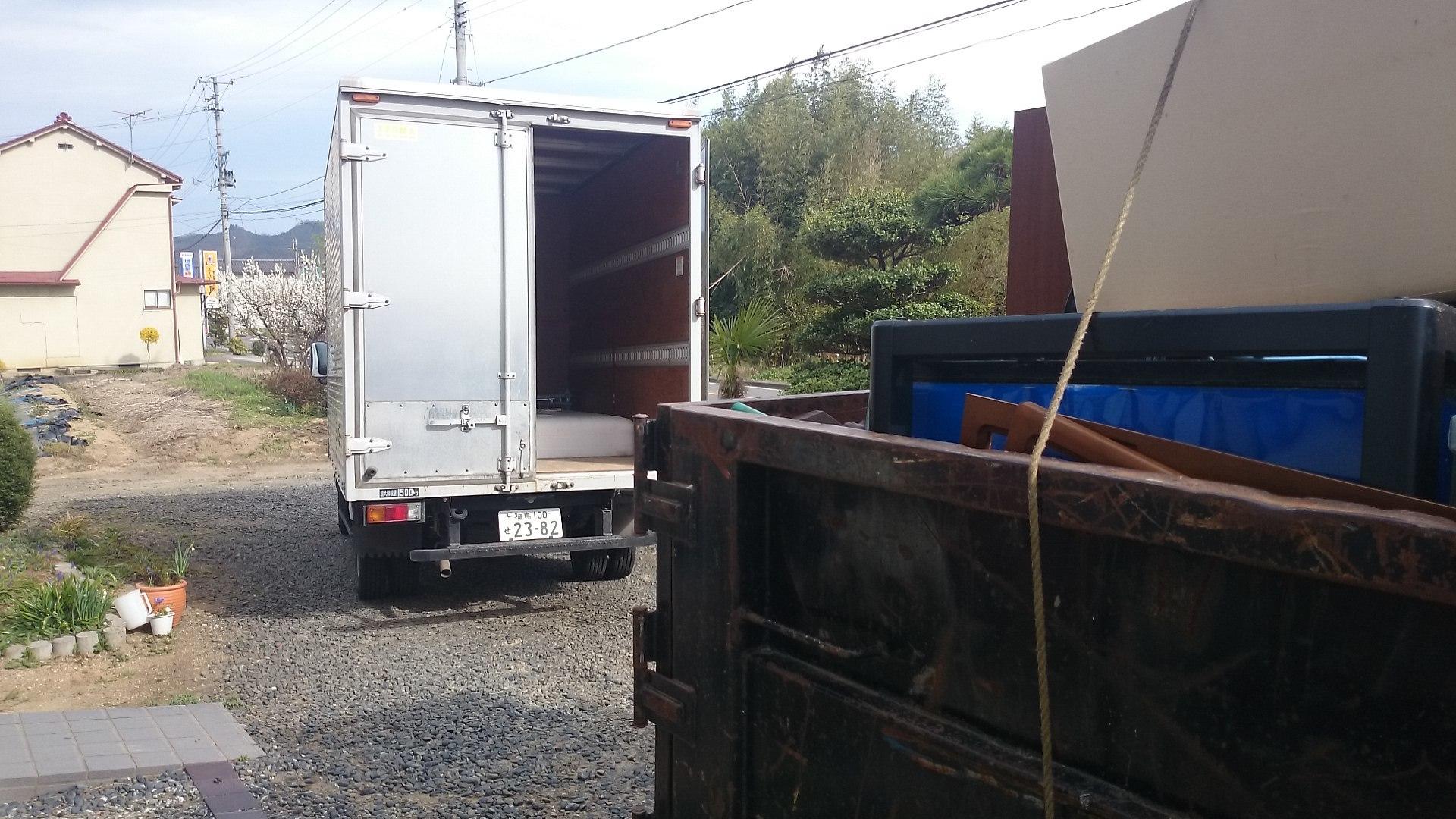 アルミバン箱車で回収