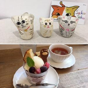 ねこひげスタンド&猫の手パフェ☆