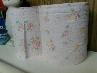 トイレの紙様