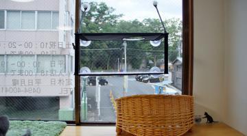 窓に張り付く猫ハンモック! その1 5