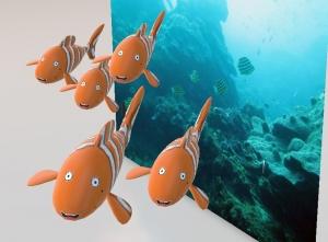 魚の群れ3d