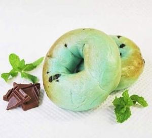 チョコミントベーグル
