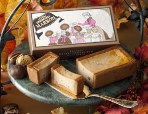 秋の手焼きチーズケーキマロン