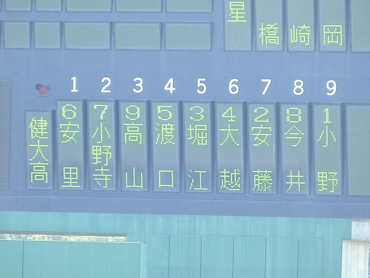 10_後攻健大高崎のスタメン