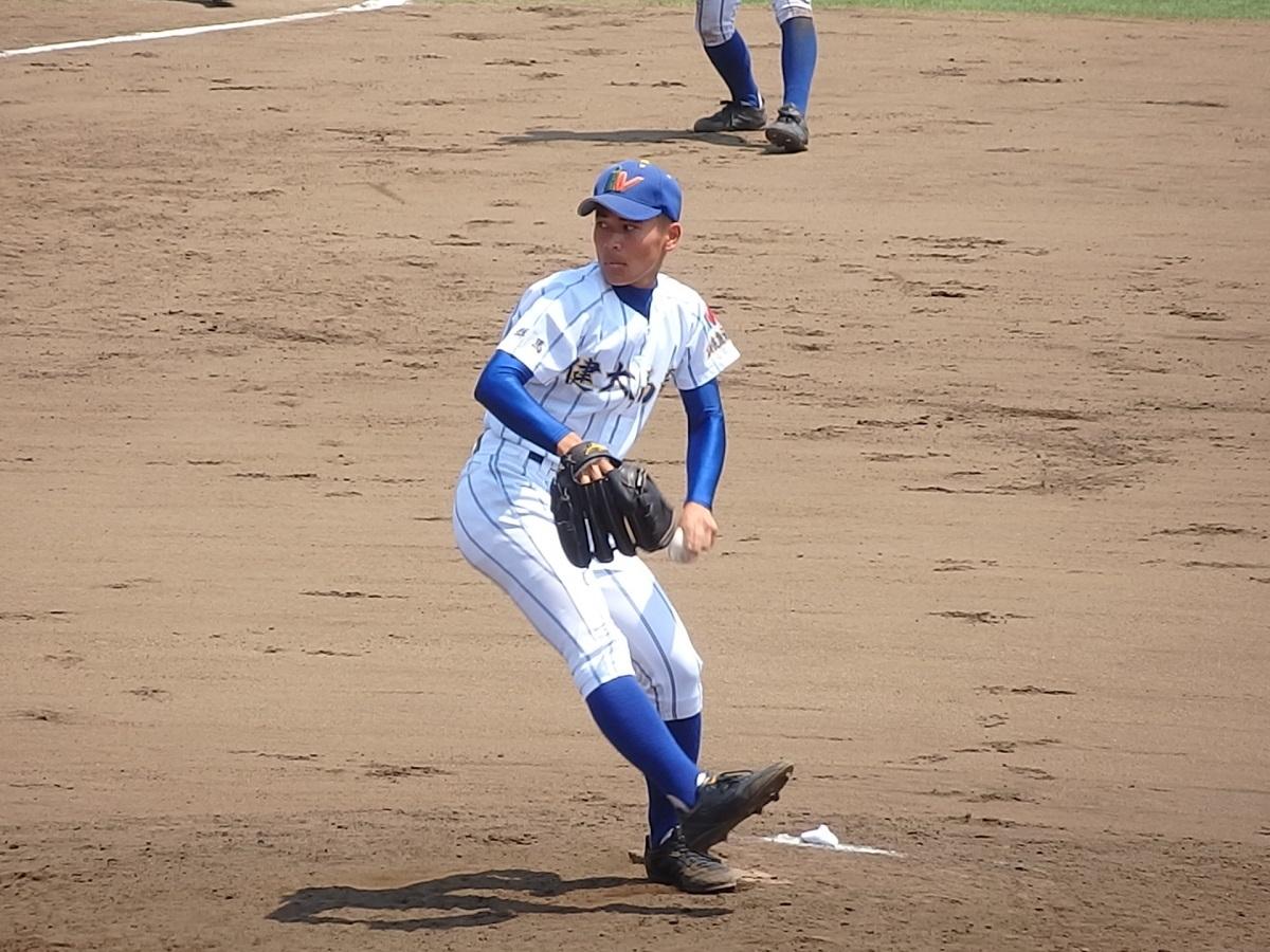 27_健大高崎は7回表に左腕の片倉くんが登板