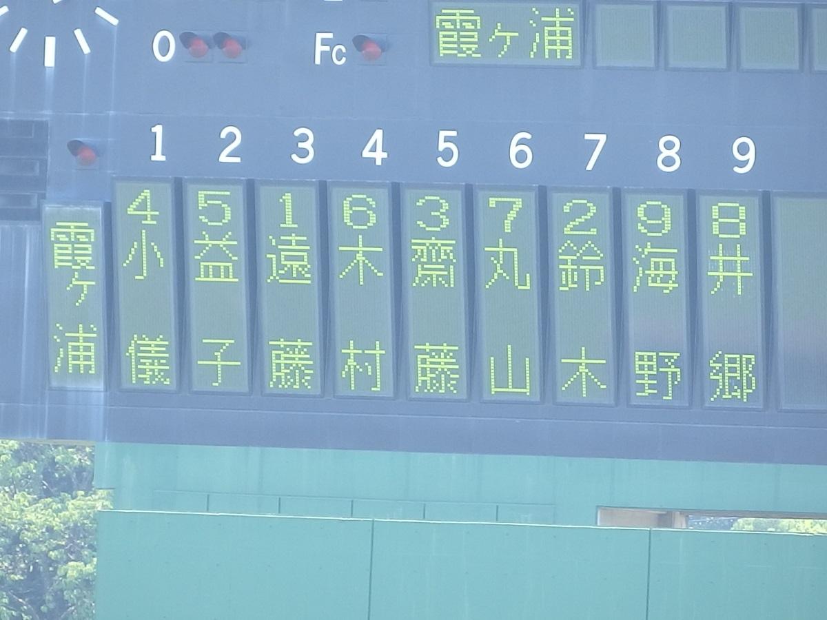 04_後攻霞ヶ浦のスタメン