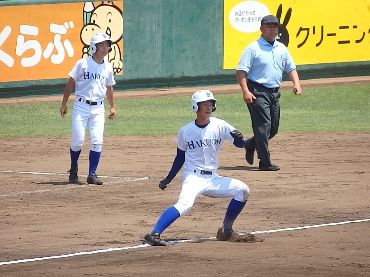 12_3回表、白鷗大足利は霞ヶ浦の見事な中継プレーにタッチアップできず