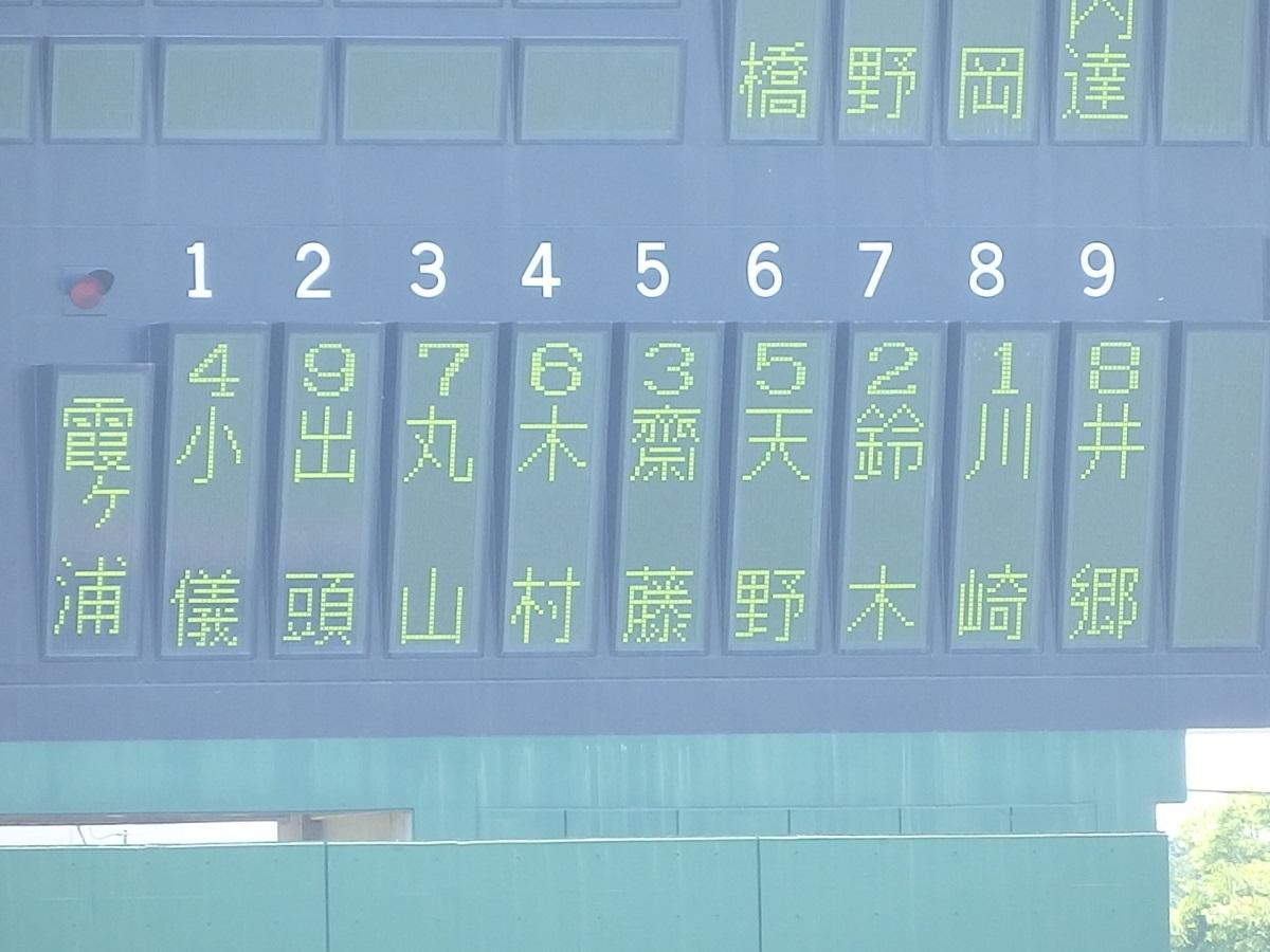 03_先攻霞ヶ浦のスタメン