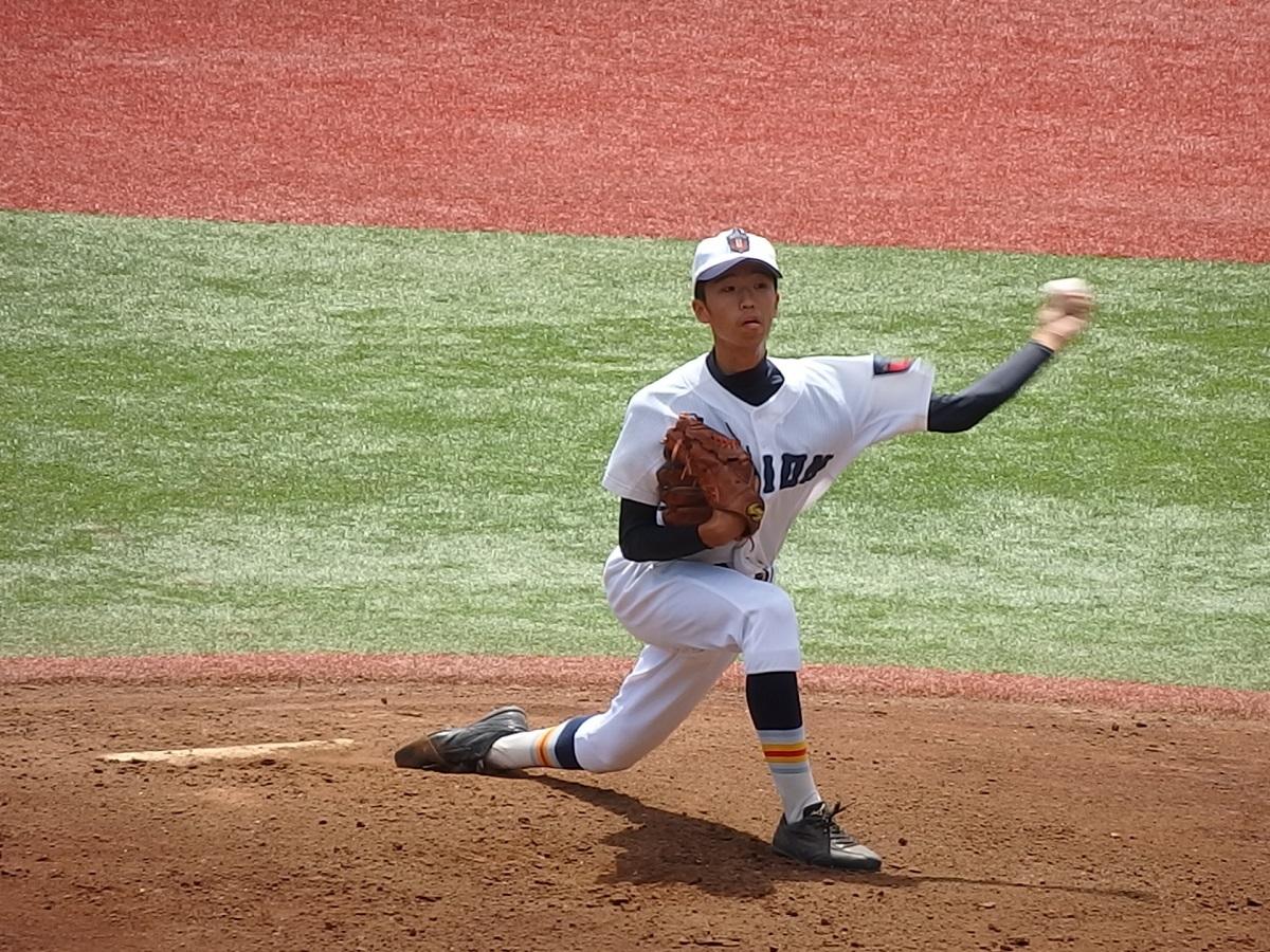 07_粘投を展開するキリストのエース、左腕の永田くん