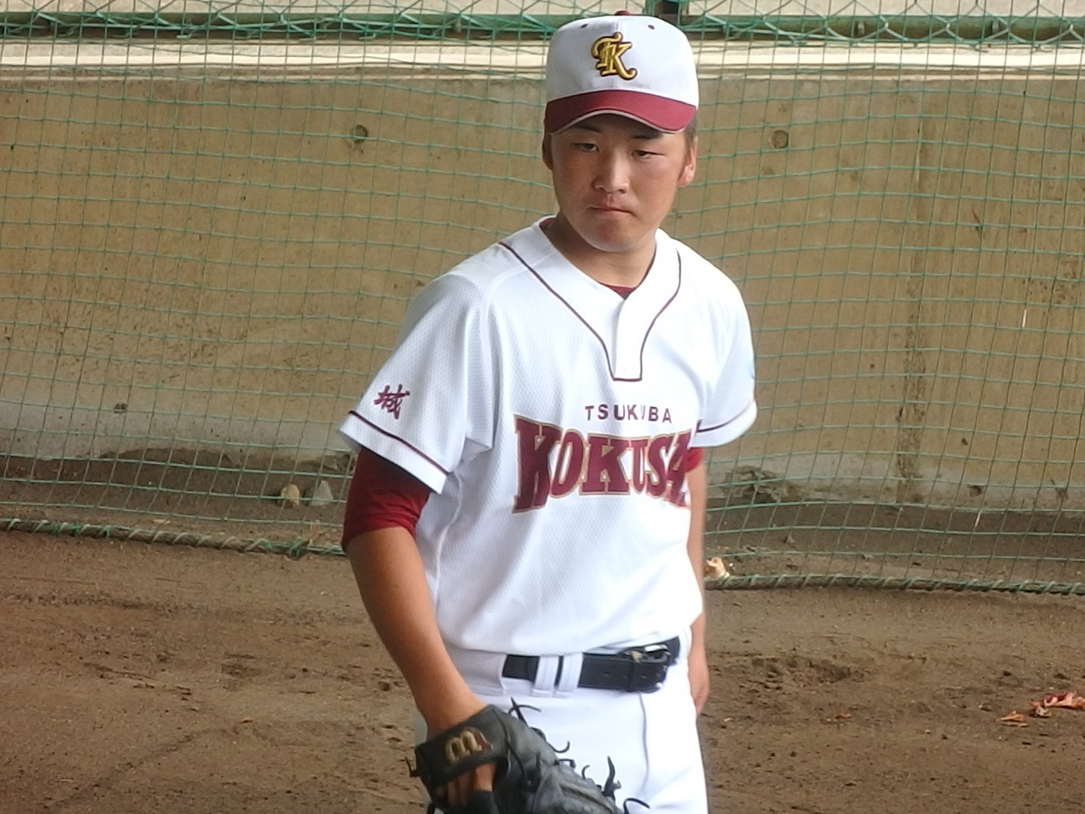 03_つくば国際はここまで12イニング無失点、2年生左腕の福島くん