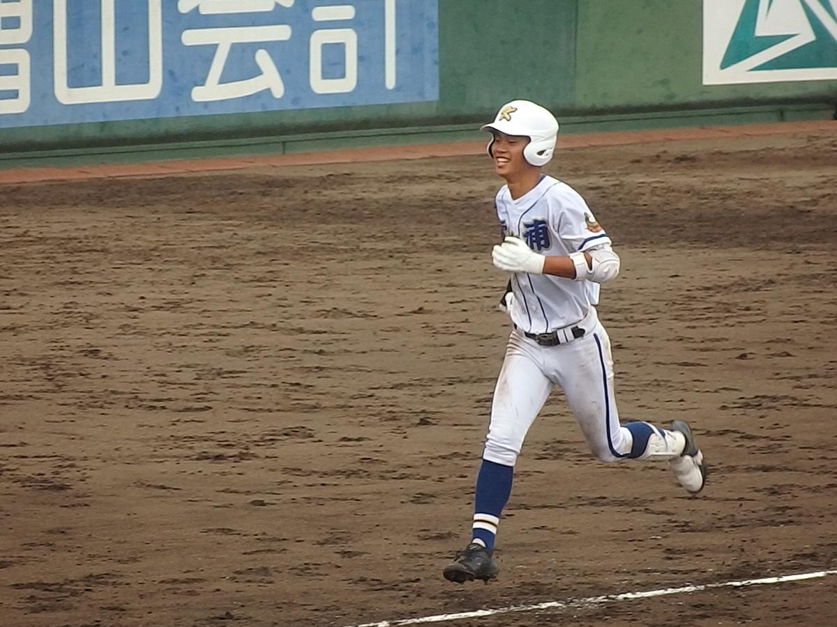 22_4回裏、霞ヶ浦3番丸山くん、2ランホームラン!!③