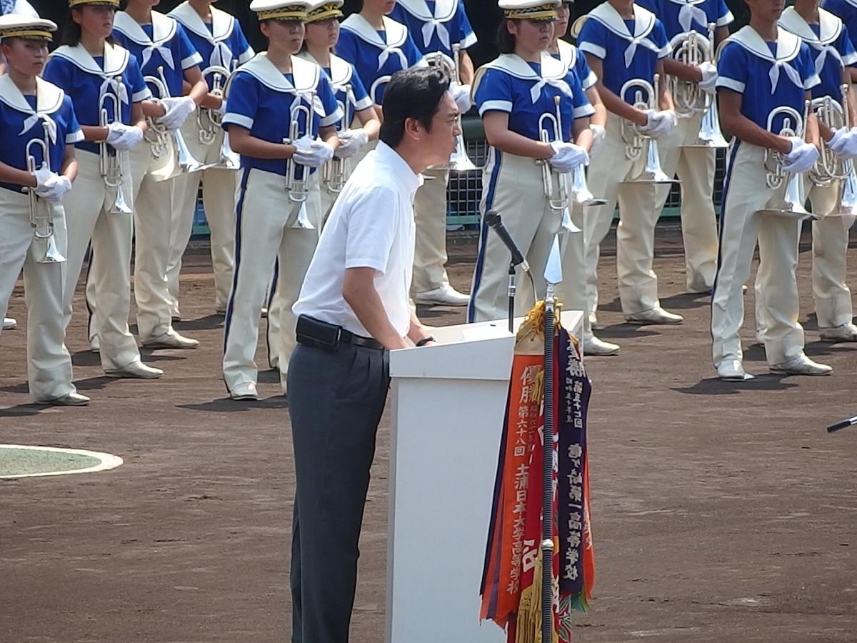 25_プラカード持ちの子が倒れたのを気遣って巻きでしゃべる朝日新聞水戸総局長の伊藤宏殿