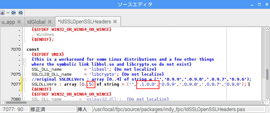 Indy10 Could not load SSL library 対応(Raspberry Pi)