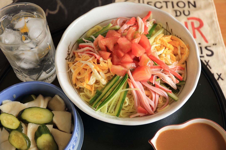 2017 6 僕の昼食、冷やし中華、ゴマ味 ブログ用 .jpg