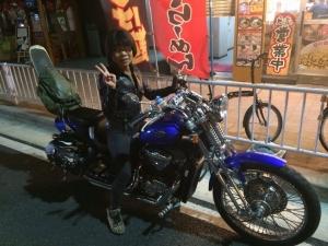 614 アヒル号(バイク)に乗ったアヒルちゃん!(^^)!