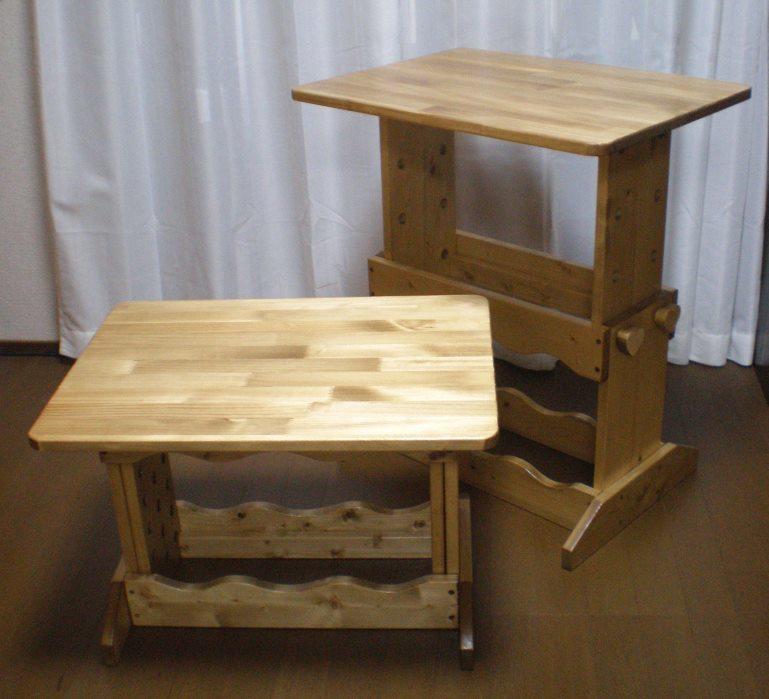 高さを変えられるテーブル1