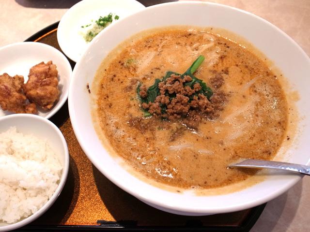 担々麺 唐揚ランチセット