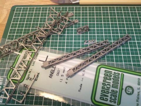 架線柱の改造