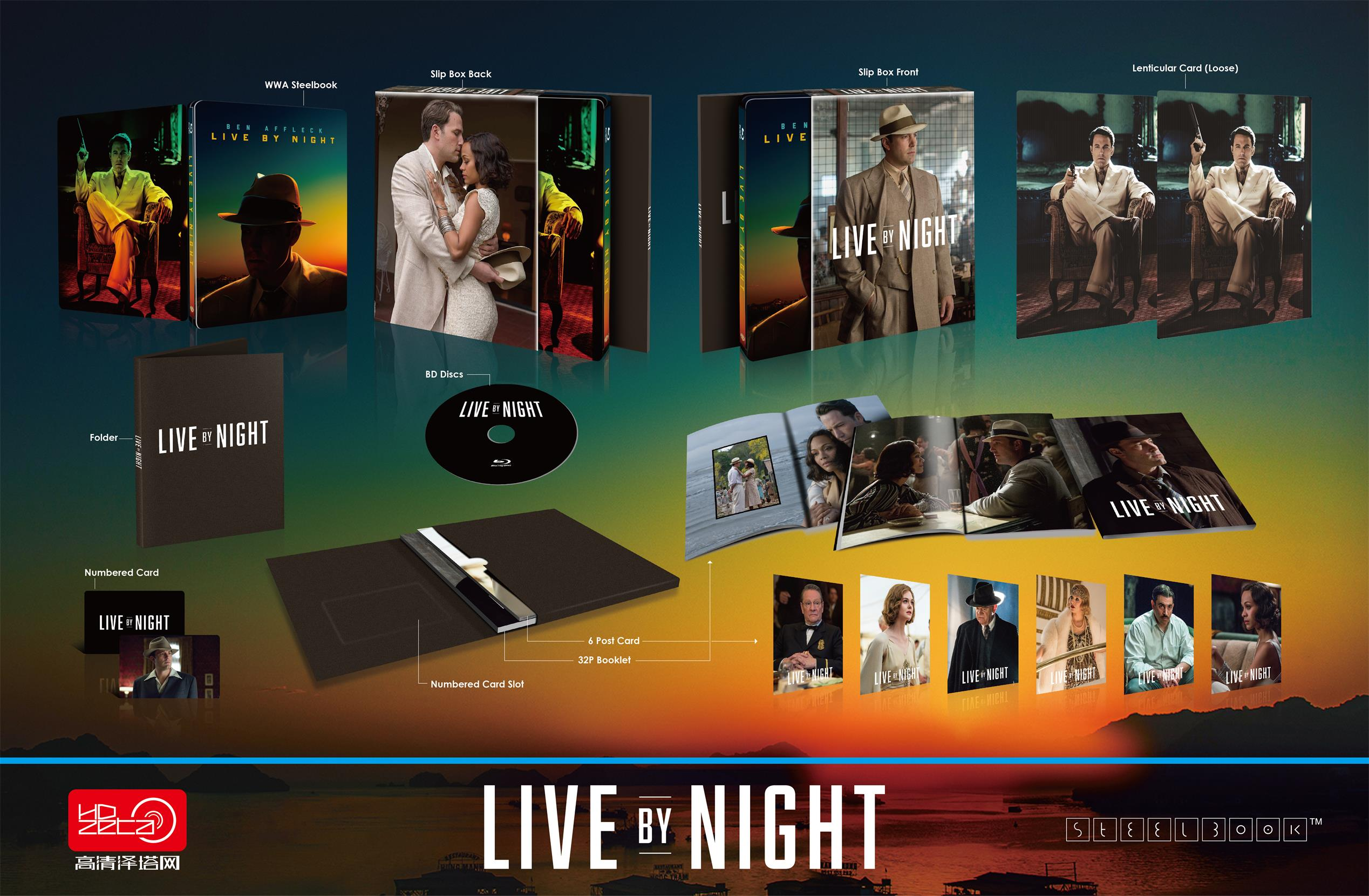 夜に生きる スチールブック steelbook Live By Night HDzeta Silver Label Special Edition