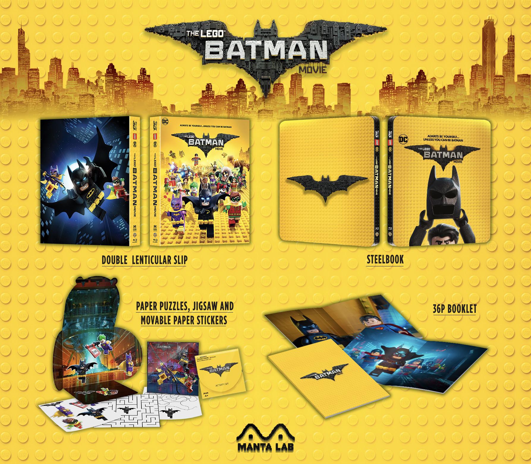 レゴ(R)バットマン ザ・ムービー スチールブック THE LEGO BATMAN MOVIE STEELBOOK Manta Lab