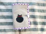 たためるエコバッグ(黒猫の刺繍)
