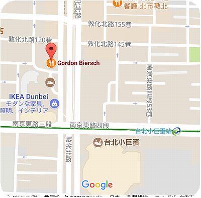 Gordon&Biersch 地図