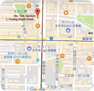 川巴子火鍋樓地図