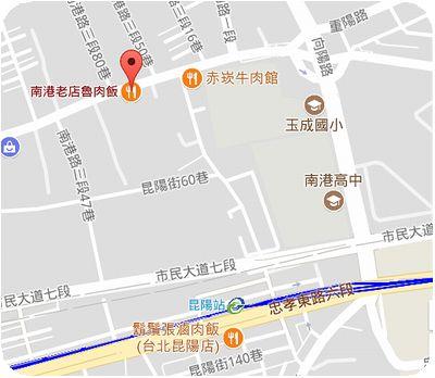 南港老店魯肉飯地図