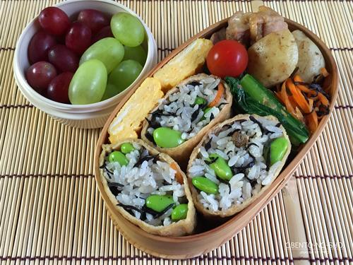 ひじきご飯のいなり寿司弁当