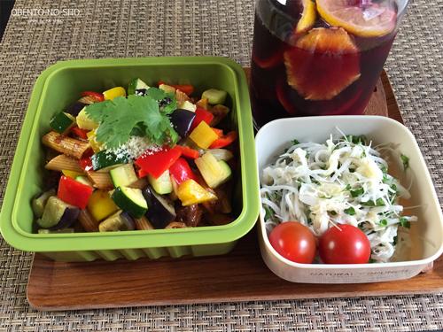 牛すじと夏野菜のアラビアータ弁当