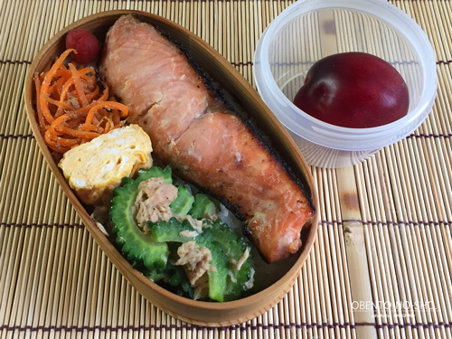 鮭の西京みそ漬焼き弁当01