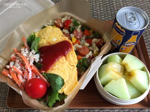 オムレツのせ夏野菜&チョリソーのピラフ弁当