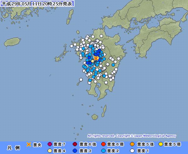 【地震予知】11日に熊本で震度4の地震起きてるけど、これ5月13日の大地震の前触れなのか?