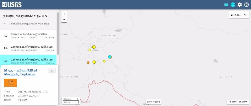 【海外】中国の新疆ウイグル自治区で「M5.4」の地震発生