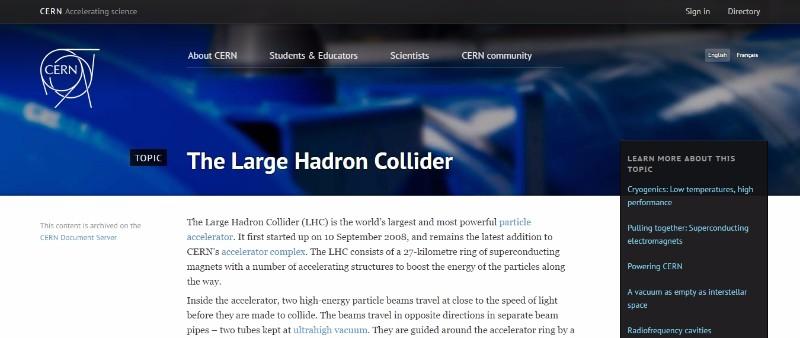 【CERN】新たな素粒子が存在するかも…加速器「LHC」で予想外データ
