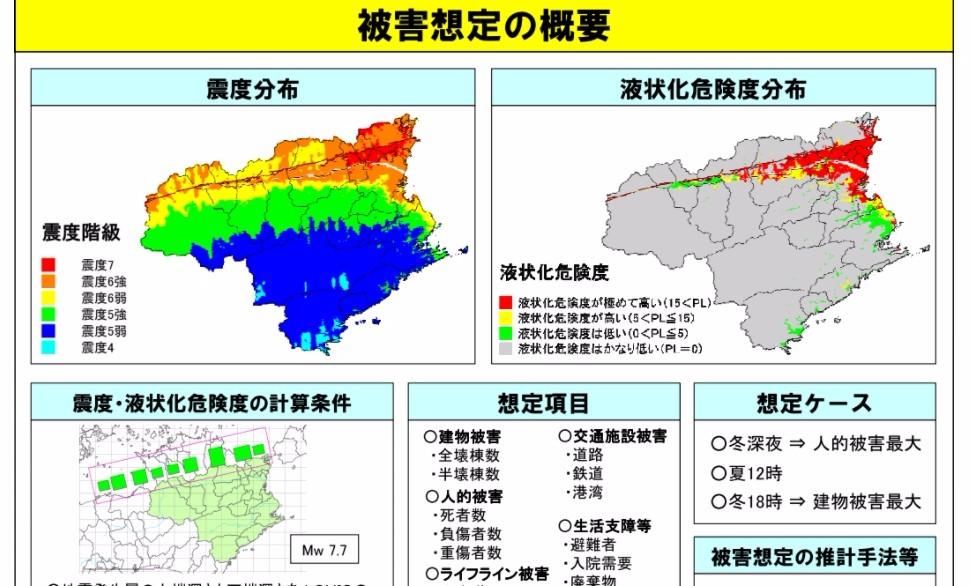 【大地震】徳島県が「中央構造線」でM7.7の直下型地震を想定